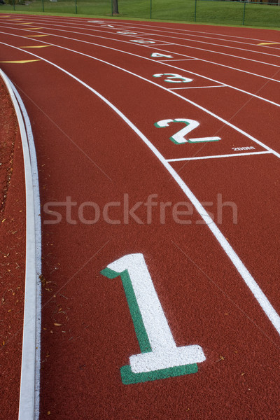 running tracks abstract with  lane numbers Stock photo © PixelsAway