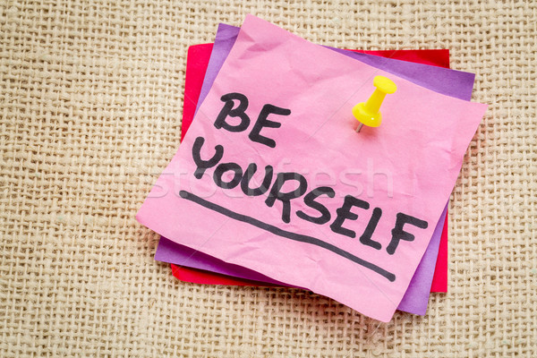 Be yourself reminder note Stock photo © PixelsAway