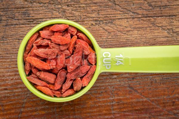goji berries in measuring scoop Stock photo © PixelsAway