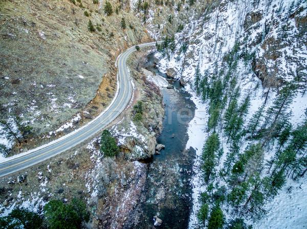 Poudre River Canyon aerial view Stock photo © PixelsAway