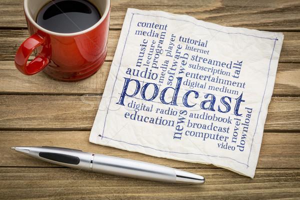 podcast word cloud on napkin Stock photo © PixelsAway