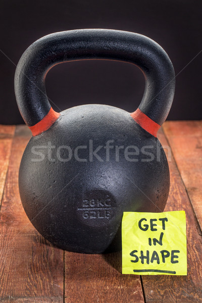 Pesado hierro forma nota rústico Foto stock © PixelsAway