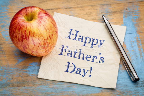 happy father day on napkin Stock photo © PixelsAway