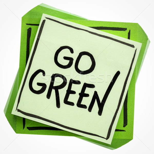 go green concept on sticky note Stock photo © PixelsAway