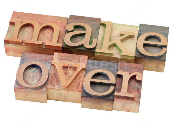 makeover word in letterpress type Stock photo © PixelsAway