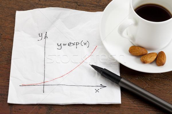 роста салфетку кривая коктейль чашку кофе Сток-фото © PixelsAway