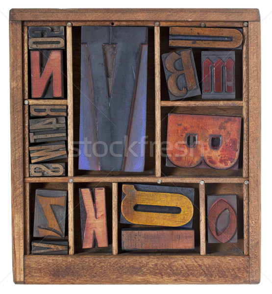 antique letterpress printing blocks Stock photo © PixelsAway