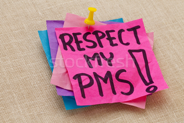 respect my PMS - premenstrual syndrome Stock photo © PixelsAway