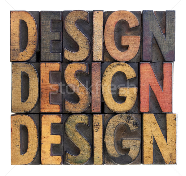design - vintage wood typography Stock photo © PixelsAway