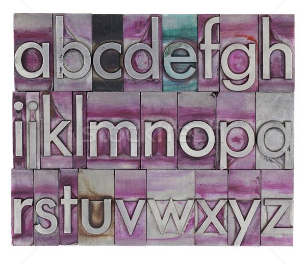 alphabet in metal letterpress type Stock photo © PixelsAway