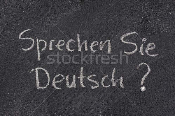 Do you speak German question on a blackboard Stock photo © PixelsAway