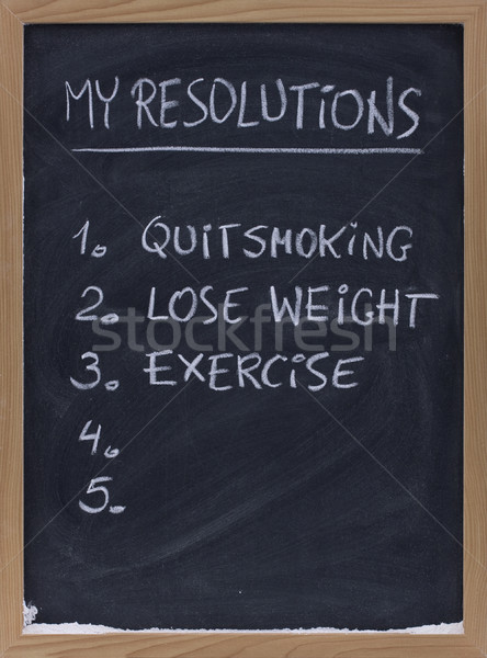 quit smoking, exercise, loose weight Stock photo © PixelsAway
