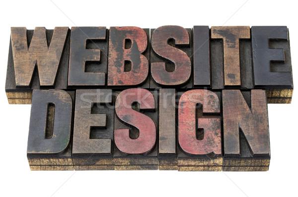 website design in wood type Stock photo © PixelsAway