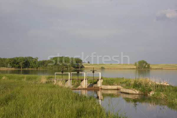 irrigation channel and reservoir Stock photo © PixelsAway