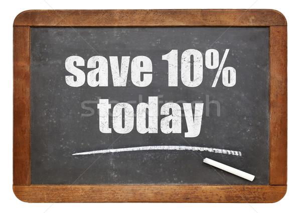 Salvar 10 hoje oferecer lousa promoção Foto stock © PixelsAway