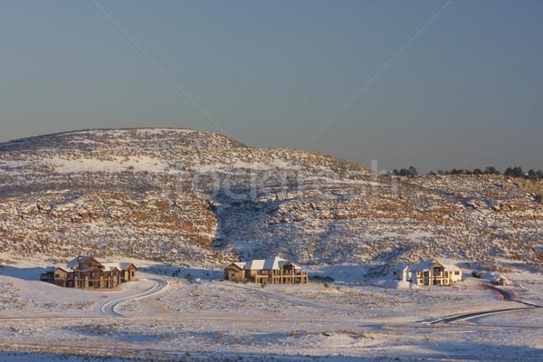 új luxus család házak Colorado elöl Stock fotó © PixelsAway