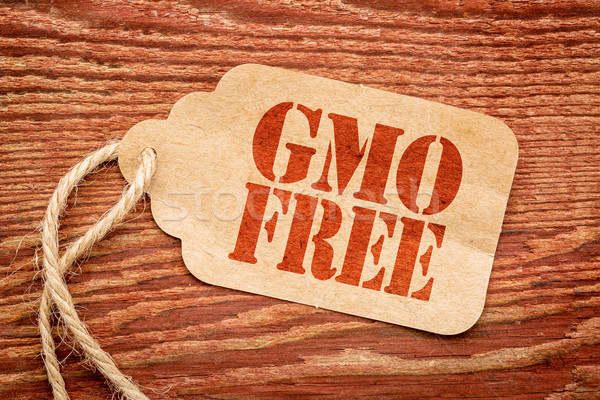 GMO free sign on paper price tag  Stock photo © PixelsAway