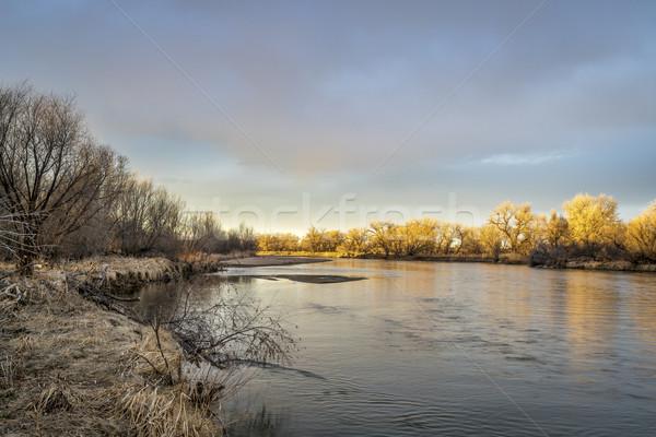 Zuiden rivier Colorado Oost zonsondergang landschap Stockfoto © PixelsAway
