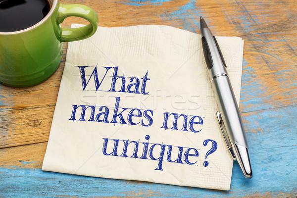 What makes me unique? Stock photo © PixelsAway