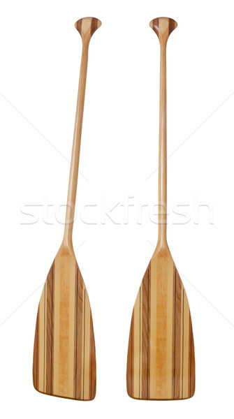 Stock photo: bent shaft wood  canoe paddle