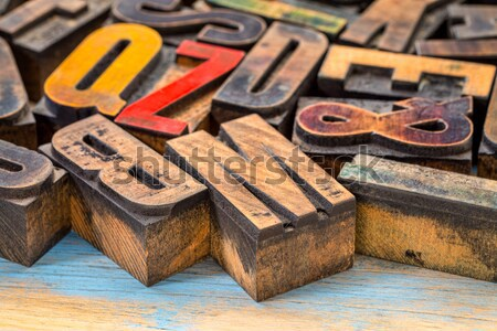 letterpress printing blocks with exclamation point Stock photo © PixelsAway