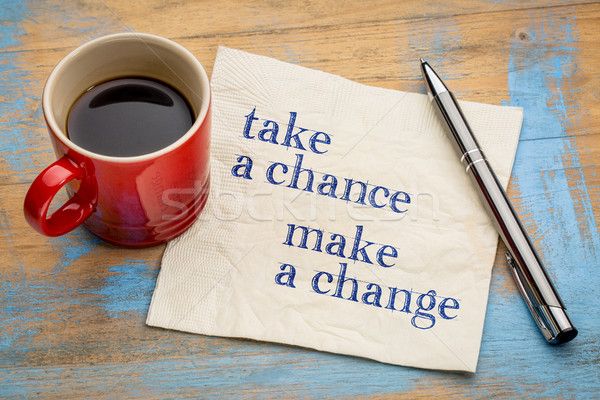 Take a chance, make change Stock photo © PixelsAway