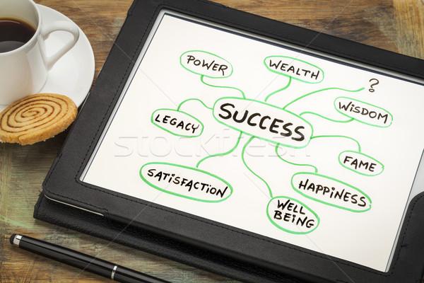 Significato successo sketch digitale tablet Cup Foto d'archivio © PixelsAway