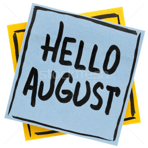 Hello August welcome note Stock photo © PixelsAway