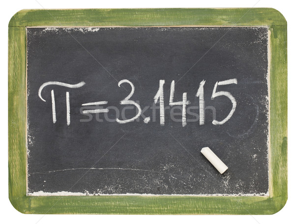 the number pi on a small blackboard Stock photo © PixelsAway