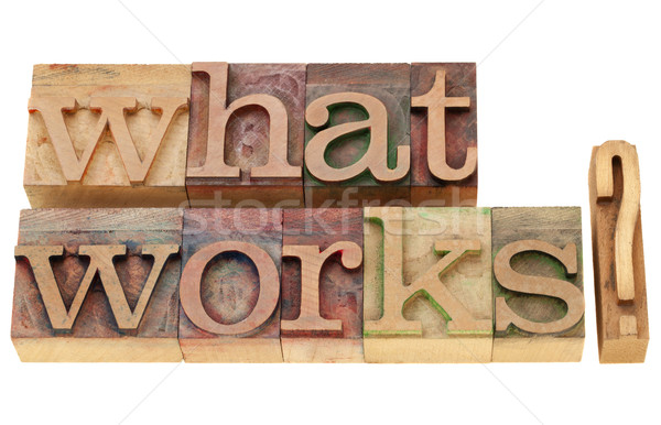 Stock photo: what works question