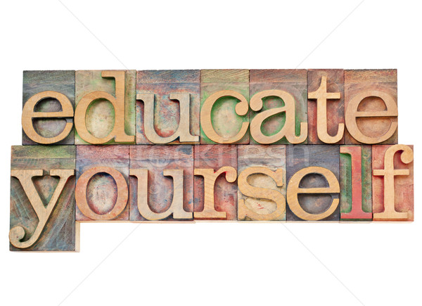 educate yourself Stock photo © PixelsAway