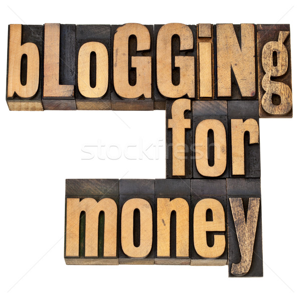 Blogging argent internet entrepreneur isolé expression Photo stock © PixelsAway