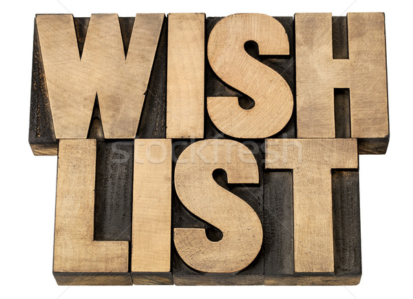 wish list in wood type Stock photo © PixelsAway