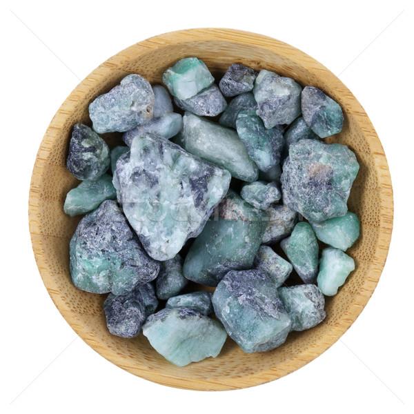 Zümrüt mineral Brezilya küçük ahşap Stok fotoğraf © PixelsAway