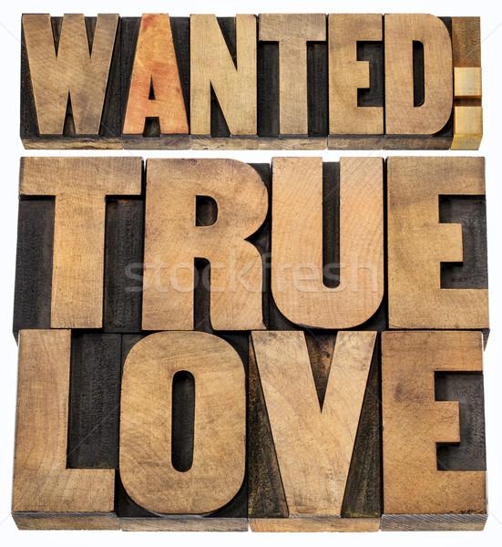 Keresett szeretet fa románc izolált Stock fotó © PixelsAway
