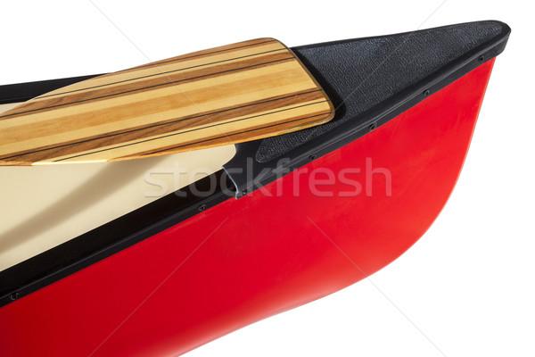 Kenu íj piros izolált fehér Stock fotó © PixelsAway