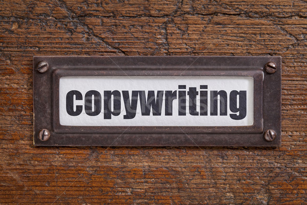copywriting - file cabinet label Stock photo © PixelsAway