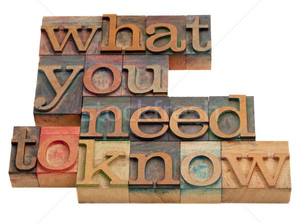 Mi szükség tutorial tanács szavak klasszikus Stock fotó © PixelsAway