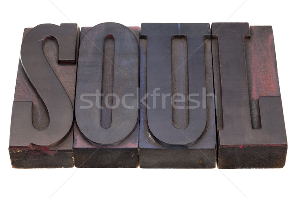 soul word in letterpress type Stock photo © PixelsAway