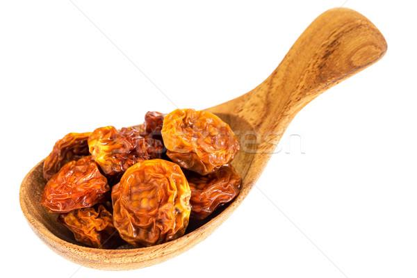 dried goldenberries on  wooden spoon Stock photo © PixelsAway