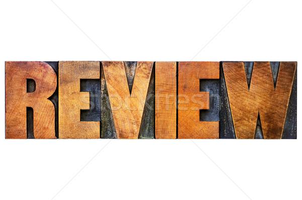 review word in letterpress wood type Stock photo © PixelsAway