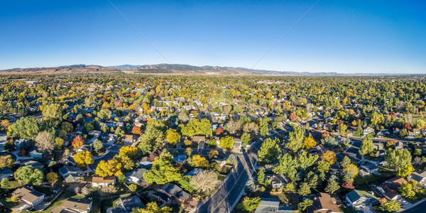 aerial panorama of Fort Collins Stock photo © PixelsAway