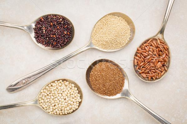 Gluténmentes magvak gabona fekete rizs öreg Stock fotó © PixelsAway