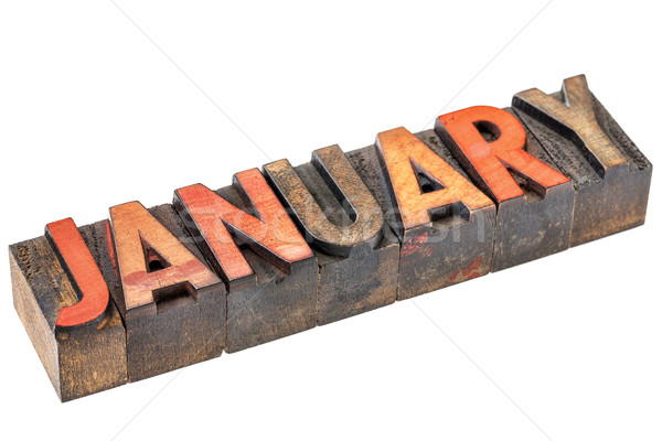January month in wood type Stock photo © PixelsAway