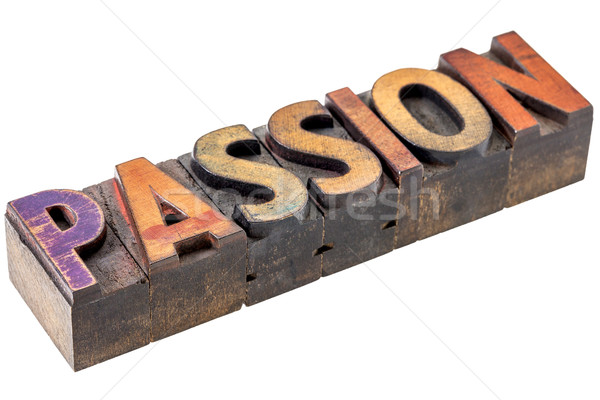 passion word in vintage wood type Stock photo © PixelsAway