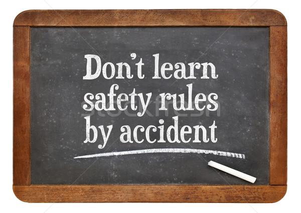 не узнать безопасности правила аварии белый Сток-фото © PixelsAway