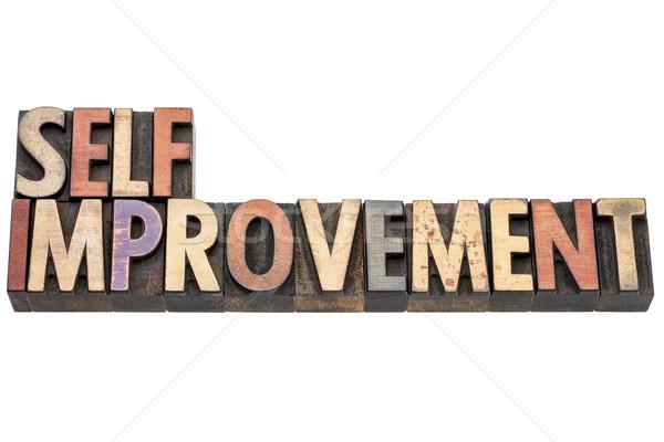 self improvement words in wood type Stock photo © PixelsAway