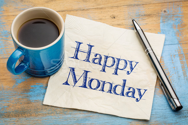 Happy Monday napkin handwriting Stock photo © PixelsAway