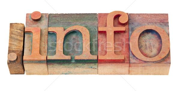 Informação internet domínio ponto informações recursos Foto stock © PixelsAway