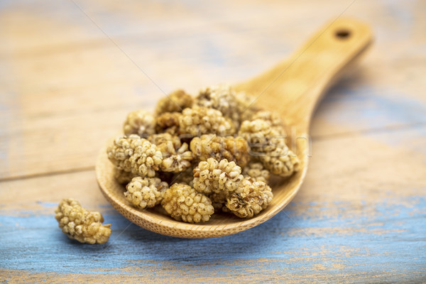 spoo nof dried white mulberries Stock photo © PixelsAway